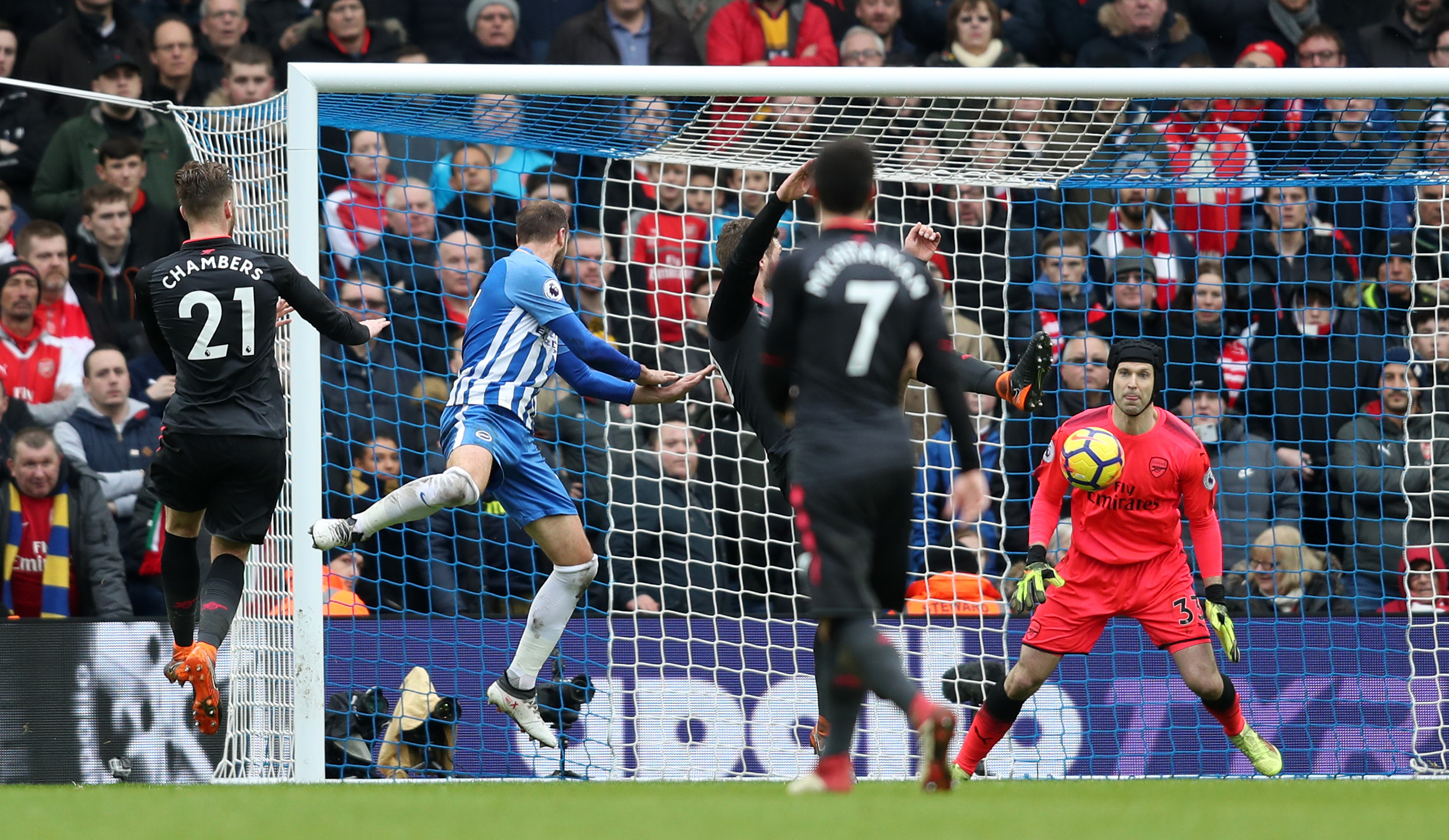 Petr Cech accept blame for Brighton & Hove Albion loss